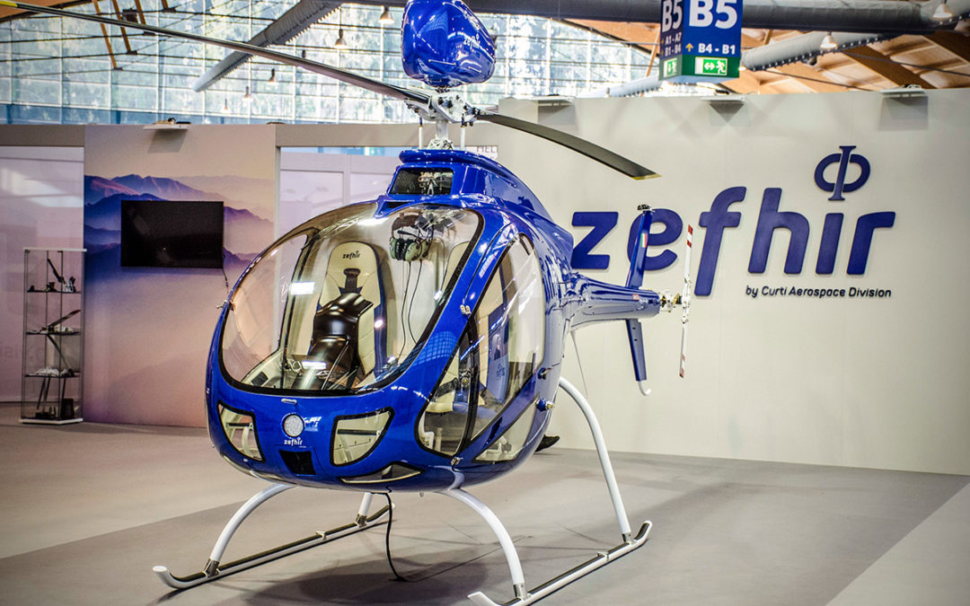 Unveiling Zefhir at AERO 2018.